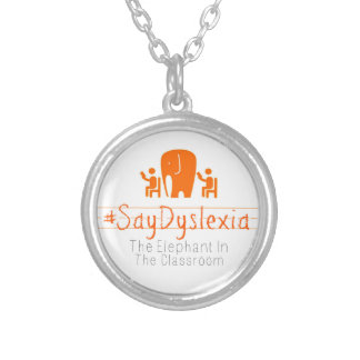 Small Round Silver Plate Charm Necklace