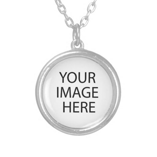 Small Round Silver Plated Your Design Here Pendants