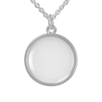 Small Round Sterling Sliver Sterling Silver Necklace