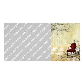 Small Royal Chair with Branches Card