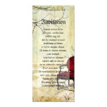 Small Royal Chair with Branches 4x9.25 Paper Invitation Card
