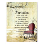 Small Royal Chair with Branches 4.25x5.5 Paper Invitation Card