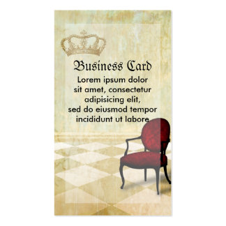 Small Royal Chair with Crown Double-Sided Standard Business Cards (Pack Of 100)