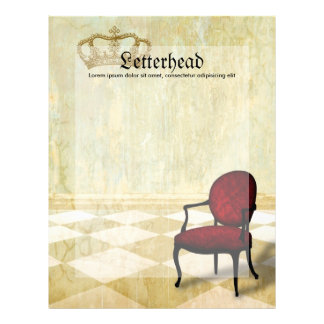 Small Royal Chair with Crown Letterhead