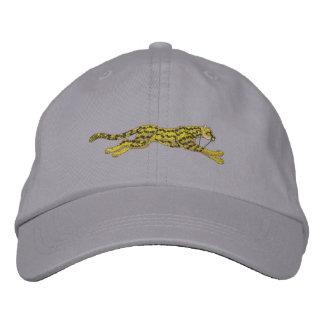 Small Running Cheetah Embroidered Baseball Caps