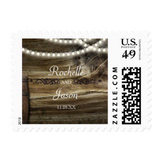 SMALL Rustic Winery Wedding Stamp