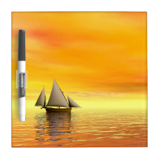 Small sailboat - 3D render Dry-Erase Board
