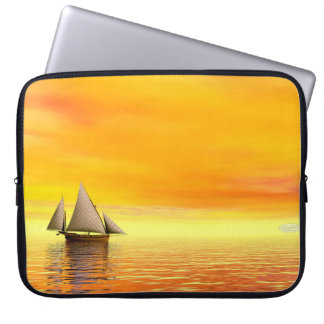 Small sailboat - 3D render Laptop Sleeve