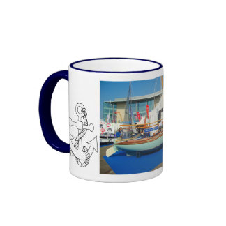 Small sailing boats, Southampton boat show Ringer Coffee Mug