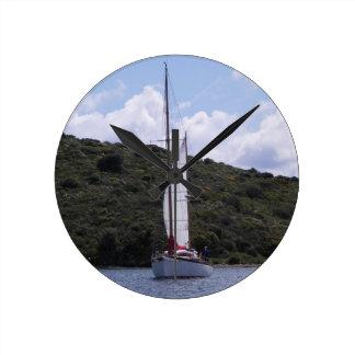 Small Sailing Ketch Wallclocks