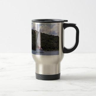 Small Sailing Ketch Travel Mug