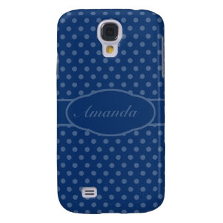 Small San Marino Blue Dots on Sapphire Blue Samsung S4 Case