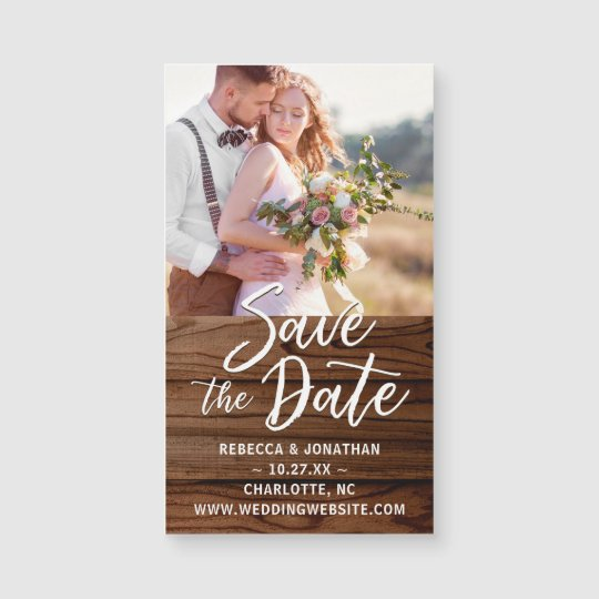 Small Save The Date Magnets Rustic Wedding