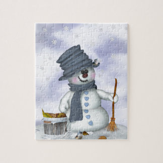 Small Schneemann clears up Jigsaw Puzzle