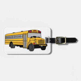 Small School Bus Bag Tag