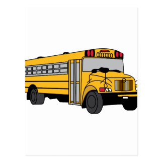 Small School Bus Postcard