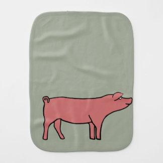 small Schweinchen Burp Cloth