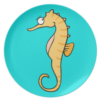 Small seahorse plate