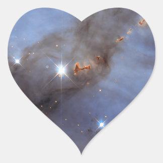 Small Section of the Carina Nebula Heart Sticker