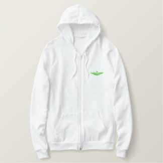Small Senior Pilot Embroidered Hoodie