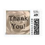 Small Sepia Sweetheart Rose, Thank You! Postage