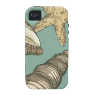 Small Shell Trio on Teal Vibe iPhone 4 Cases