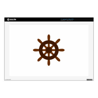 SMALL SHIPS WHEEEL DECAL FOR LAPTOP