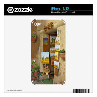Small shope with artwork for sale on sidewalk skin for the iPhone 4S