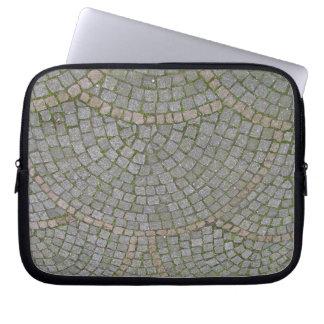 Small Sidewalk Tiles Texture Background Laptop Computer Sleeve