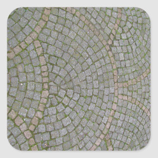 Small Sidewalk Tiles Texture Background Square Sticker