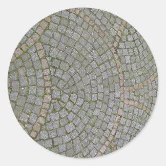 Small Sidewalk Tiles Texture Background Classic Round Sticker