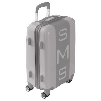SMALL Silver + Gray Monogrammed Carry On Luggage