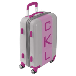 SMALL Silver + Light Purple Monogram Carry On Bag Luggage