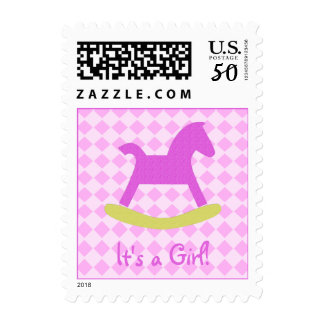 Small Size Its a Girl Postage