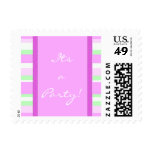 Small size Its a party Postage