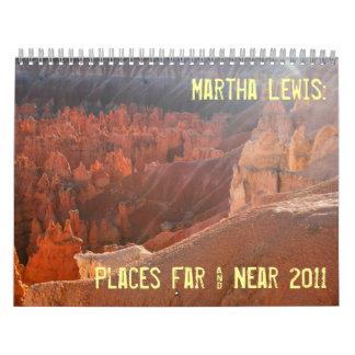 small size Martha Lewis: Places Far & Near 2011 Wall Calendars