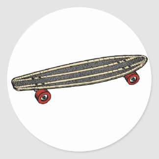 Small Skateboard Classic Round Sticker