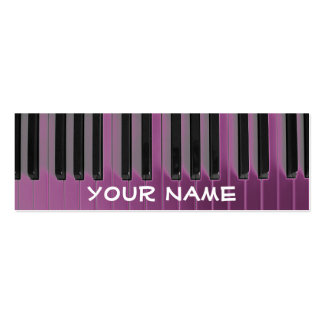 small skinny pianist piano music business card template