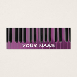 small skinny pianist piano music mini business card