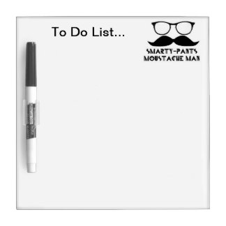 Small Smarty pants moustache man to do list board