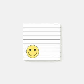 Small Smiley Face School Post It Notes Gift