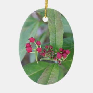 Small Spring Blooms Ceramic Ornament