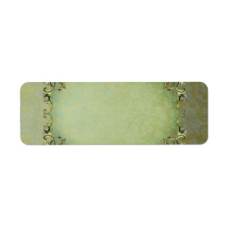 Small Spring Brocade Apothecary Label Return Address Label