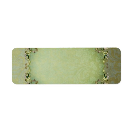 Small Spring Brocade Apothecary Label