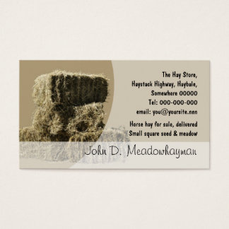 Small square hay bales stack business card