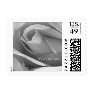 Small Square Silver Rose Wedding Postage