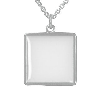 Small Square Sterling Sliver Sterling Silver Necklace