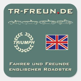 Small square sticker of TR-friends