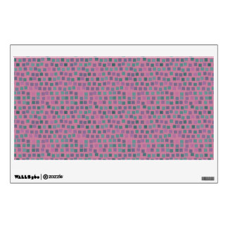 Small squares on pink background wall skins