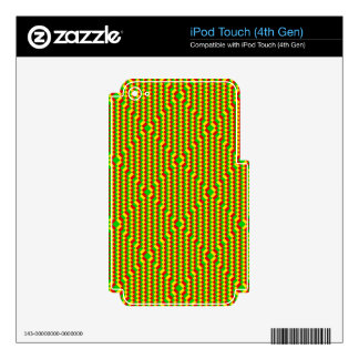 Small Squares Rasta Pattern Decal For iPod Touch 4G